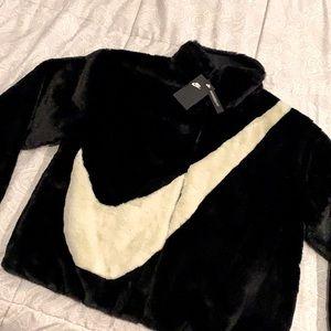 Nike oversized fur jacket